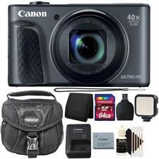Canon Powershot SX730 HS Digital Camera (Black) and 64GB Accessory Bundle