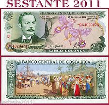 COSTA RICA   -    5 COLONES 15.1. 1992    -   P 236e  -    FDS / UNC