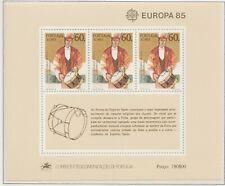 Europa CEPT 1985 Jaar van de Muziek Azoren blok 6 - Postfris MNH cat waarde € 8