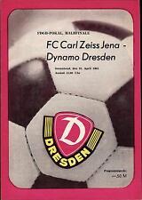 FDGB-Pokal Halbfinale 83/84 Dynamo Dresden - FC Carl Zeiss Jena, 28.04.1984