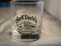 VINTAGE JACK DANIEL'S WHISKEY GLASS TUMBLER OLD NO.7 LOW BALL BARWARE BAR LIQUOR