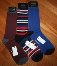 3 Pair NEW NWT Mens Banana Republic Casual Dress Socks Solids & Stripe *6J