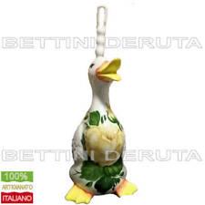 Anatra WC Porta Scopino Ceramica Dipinta Portascopino Bagno Spazzola Fiore