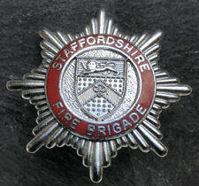 STAFFORDSHIRE FIRE BRIGADE CAP BADGE.
