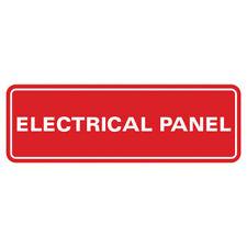 Electrical Panel Door Wall Sign Red Medium 25 X 7