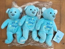 3 x Mary Meyer BABY BOY Blue Plush Teddy BEANIE BEAR NEW Ex Stock