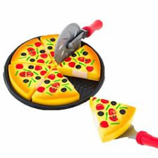 6Pcs Pretend Pizza Slices Toppings Dinner Kitchen Play Food Toys For Kids Game
