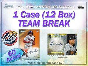 LOS ANGELES DODGERS 2021 Bowman Sterling 1 Case (12 Box) TEAM break #1
