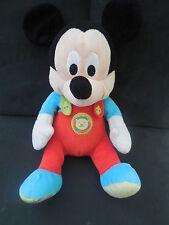 doudou peluche Mickey rouge bleu brodé lion DISNEY NICOTOY 25cm