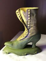 "Victorian Atlantic Mold Ladies Shoe Boot 10 1/2""Tall 9 1/4""long on base"