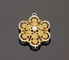 ANTIQUE DIAMOND & FLORAL BROOCH/PENDANT