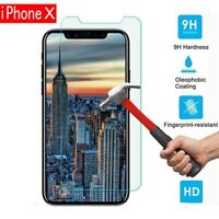 9H Premium Tempered Glass Screen Protector Guard Shield Saver For iPhone X