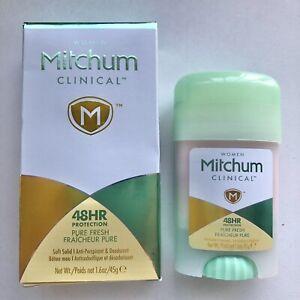 Mitchum Women Clinical Soft Solid Antiperspirant Deodorant Pure Fresh 1.6 Oz