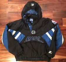 Orlando Magic 1990s Starter Authentic NBA 1/4 Zip Pullover Jacket Mens XL