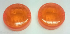 Yamaha XV 500 535 750 920 Virago 250 Route 66 Amber/Orange Turn Signal Lenses x2