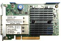 HP (764286-B21) QDR 544+FLR-QSFP Dual Port - 10Gb QSFP (764738-001) HCA