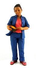 Dolls House Miniature 1:12 People Resin Figure Modern Black Lady Woman Cooking