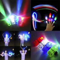 10Pc Lots Glow in the Dark Party Supplies LED Light Up Finger Rings Concerts