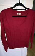 hollister burgundy cotton long sleeve t-shirt.  size large.  V neck