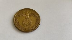 Coin 10 pfenings 1939 Nazi Germany.