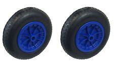 """Pack de 2 bleu 14"""" brouette roues 3.50-4.00-8 remplacement gonflable pneu"""