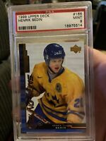 1999 Upper Deck Young Guns #166 Henrik Sedin Psa 9 Rookie Rare Pop Only 4 Higher