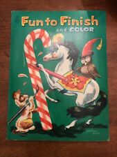 Childs Fun to Finish and Color Book Vintage 1954