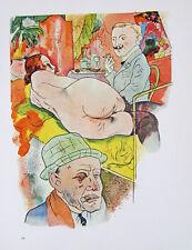 George Grosz Ecce Homo Nude Akt Zigarette Prostituierte Bordell Freier Tabak Po