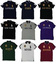 Polo Ralph Lauren Mens Big Pony Custom Slim Fit Gold Crest Flag City Shirt NWT
