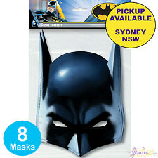 BATMAN PARTY SUPPLIES 8 MASKS KIDS BAG FAVOURS SUPERHERO BIRTHDAY DECORATIONS