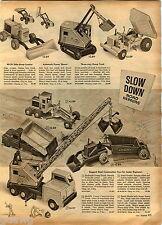 1959 Advert Lumar Marx Toy Trucks Earth Mover Three 3 Way Dump Us Bulldog Tank