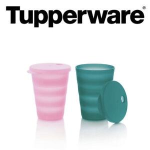 💕 TUPPERWARE  Straw Tumblers Set Of 2 - New