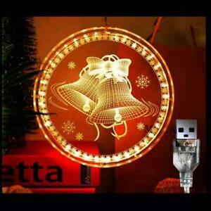 Christmas lights 3D Hanging Light Christmas Light Gift USB Powered Plug