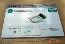 Belkin F5D5010G CardBus Netzwerkkarte PCMCIA 10/100, NEU