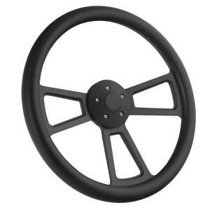 "18"" Black Billet & Black Steering Wheel for Peterbilt, Kenworth Big Rig Truck"
