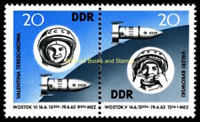 EBS East Germany DDR 1963 JointMission Vostok 5 & 6 Michel 970-971 MNH**