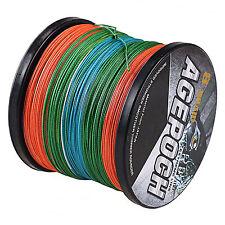 8 Strands Agepoch 100M-1000M 10LB-100LB 5 Colors PE Dyneema Braided Fishing Line