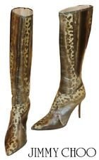 JIMMY CHOO ~ LIZARD & PHYTON High Boots - US: 7.5; EUR: 37. 5 * AUTHENTIC