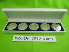 1970 ISRAEL 5 PIDYON HABEN PROOF COINS 117g PURE SILVER +BOX + RABBI CERTIFICATE