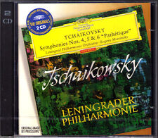 Evgeny Mravinsky: Tchaikovsky Symphony No. 4 5 6 DG 2cd Leningrado Ciaikosky