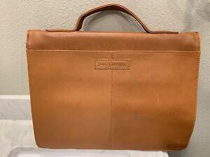 James Campbell Slim Leather Laptop Brown Bag Pristine Condition Stylish Bag Rare