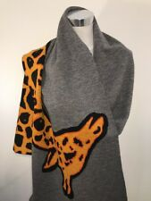 Paul Smith Women Scarf Made In Turkey Animal Grey