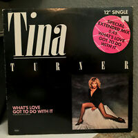 "TINA TURNER - What's Love Got To Do With It - 12"" Vinyl Record Single - VG+"
