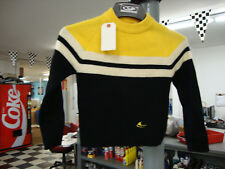 Ski-Doo Snowmobile Vintage Pull-Over Wool Black and Yellow Sweater 1960s Youth M
