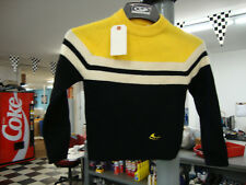 Vintage Ski-Doo Snowmobile Pull-Over Wool Black and Yellow Sweater 1960s Youth L