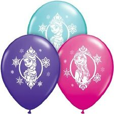 "10 pc - 11"" Disney Frozen Latex Balloon Party Decoration Decorator Elsa Anna"