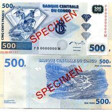 CONGO 500 FRANCS 2002 P-96s UNC SPECIMEN