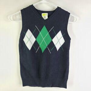 Crazy 8 V-Neck Pullover Sleeveless Argyle Diamond Knit Sweater Vest Size 5-6