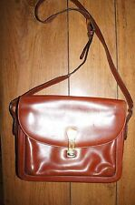Vintage Gucci Brown Leather Shoulder Bag Purse