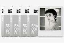 4x Película Instantánea blanco y negro Polaroid Originals B&W 600 (4pz (SG)